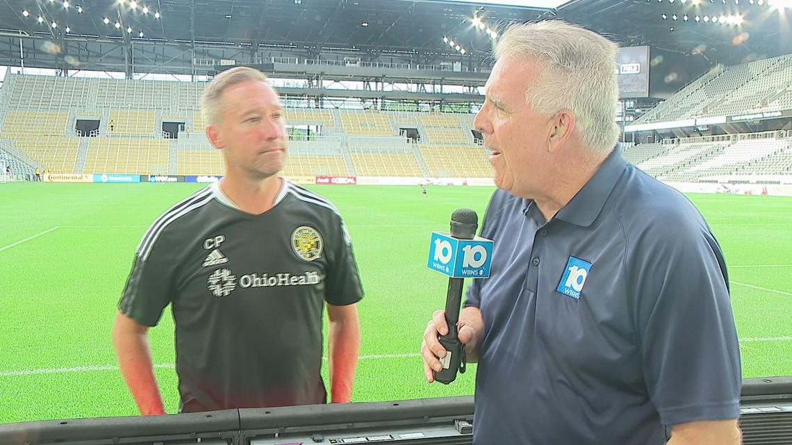 Crew head coach Caleb Porter talks after team's first practice at new stadium
