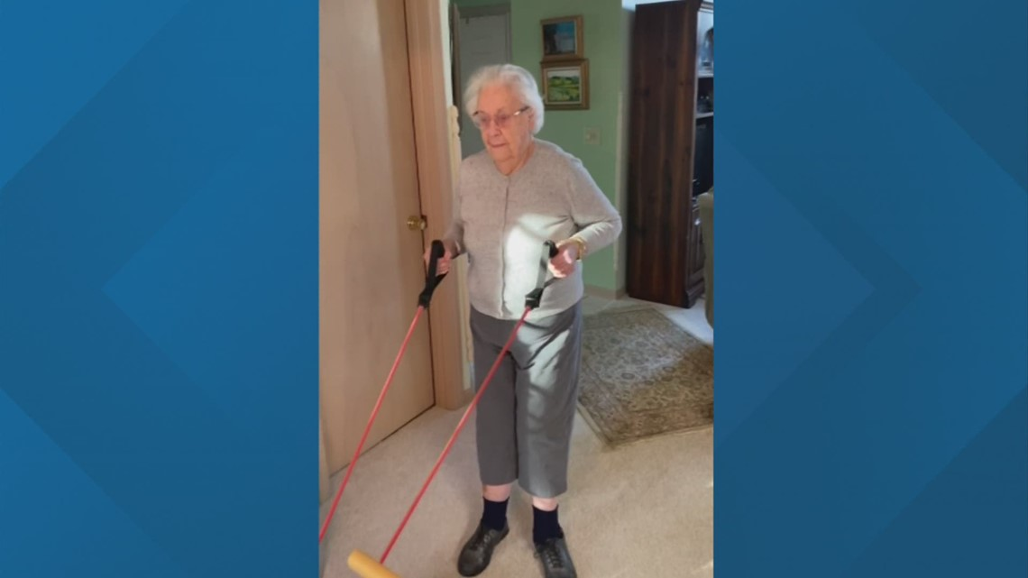 Keeping fit at 100 years young