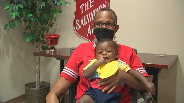Grandmother, grandson find help out of Salvation Army shelter