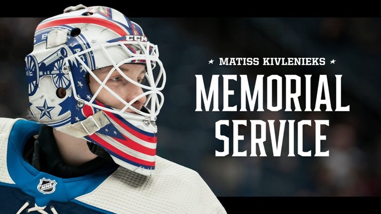 'He's inspired a country': Friends, family honor Columbus Blue Jackets' Matiss Kivlenieks with service