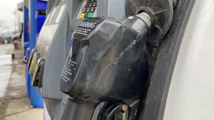 Gas prices on the rise in central Ohio