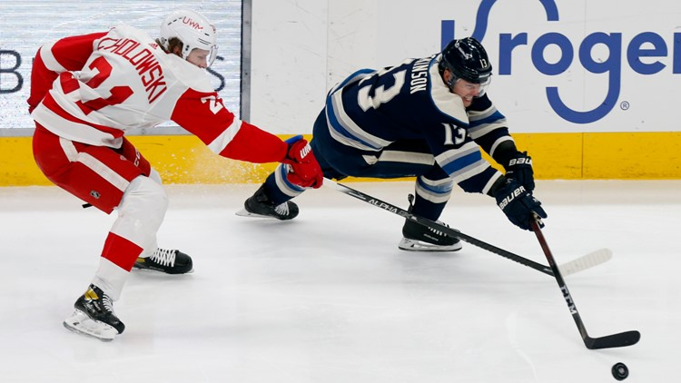 Red Wings rally to beat Blue Jackets 5-2