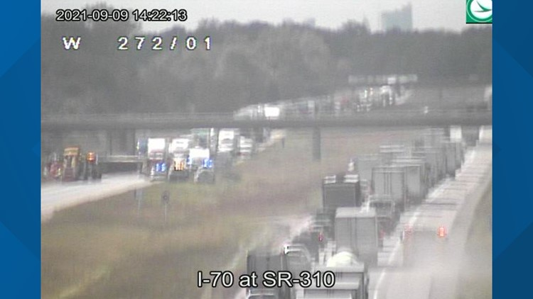 I-70 eastbound near SR-310 back open after crash in Licking County