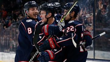 Hofmann nets 1st NHL goal, Blue Jackets defeat Dallas 4-1