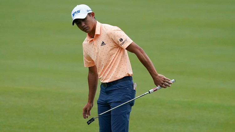 Morikawa leads at Muirfield Village on day suspended by rain