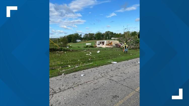 Storm damage in Pickaway County   Oct. 16