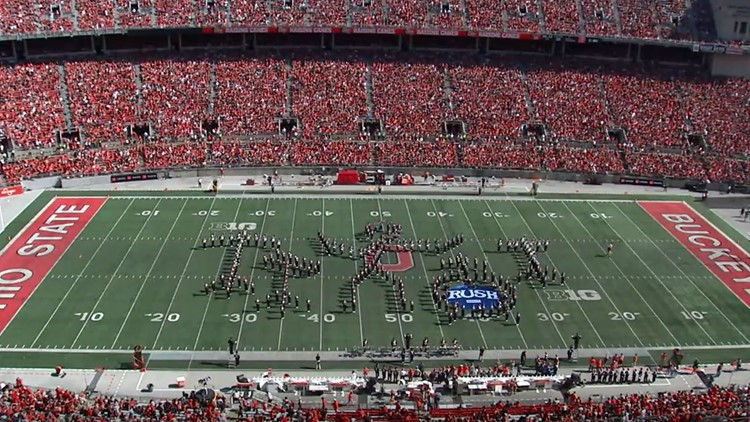 Watch Ohio State Marching Band's 'The Music of Rush' halftime show