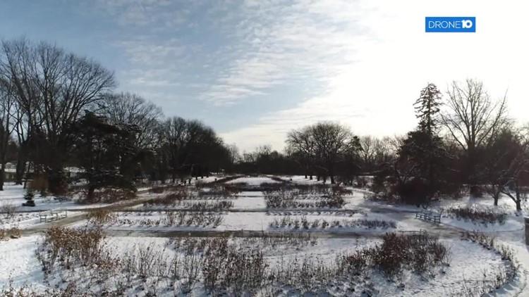 Drone 10: Columbus Park of Roses through the seasons