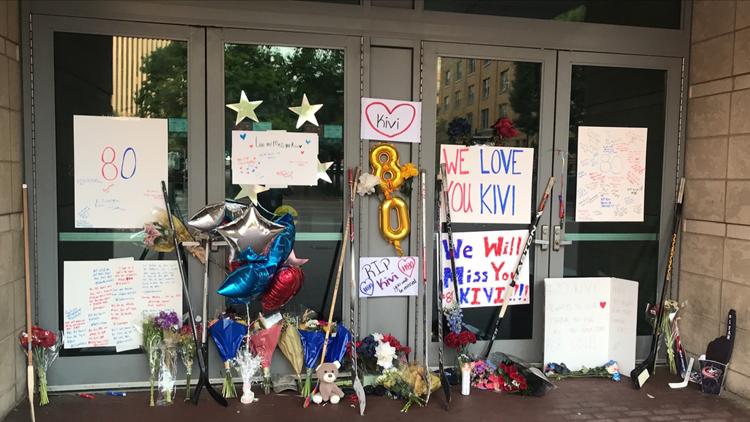 Fans mourn the loss of Columbus Blue Jackets' goalie Matiss Kivlenieks
