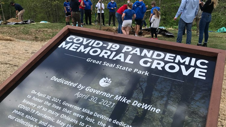 DeWine dedicates trees to COVID-19 survivors