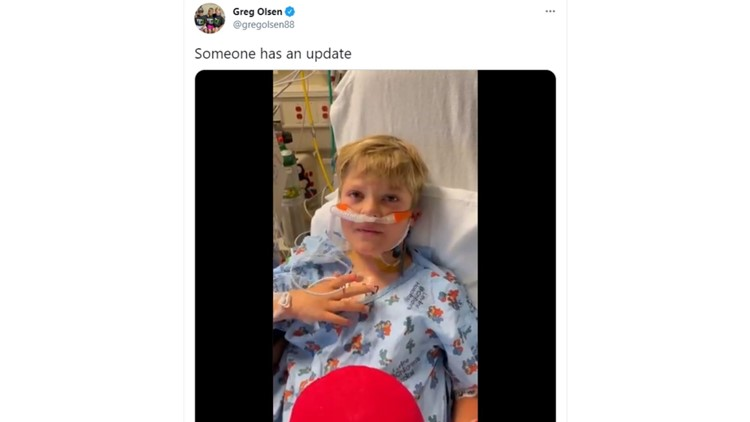 Greg Olsen's son shares thank you message after heart transplant