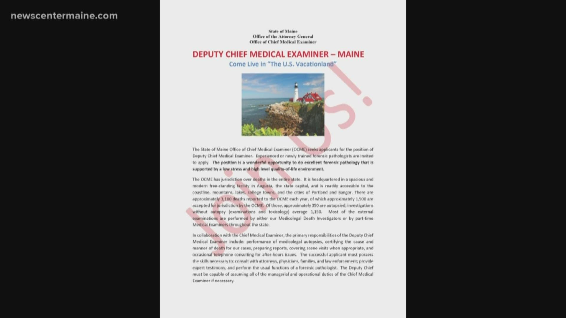 State Representative Files Complaint Over Medical Examiner Job Ad Wnep Com