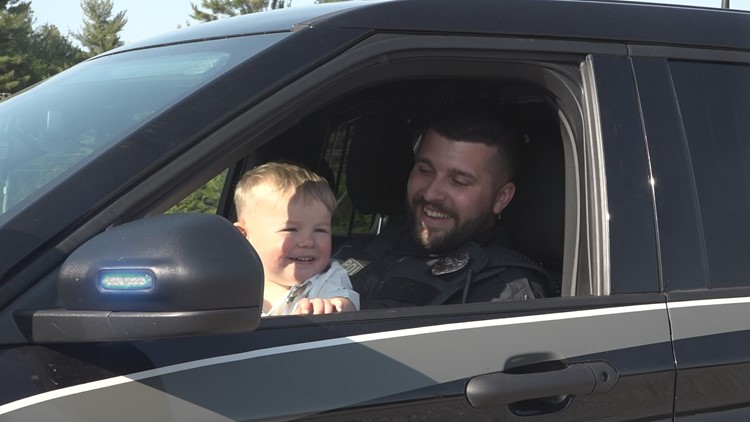 Fatal crash results in new friendship between officer and 2-year-old boy