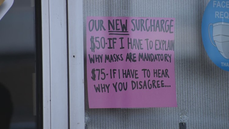 'Mask surcharge': North Texas restaurant's sign gains attention, serves up a side of science