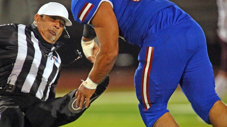 South Texas high school football player charged with assault after attacking a referee during game