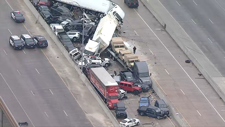 'A tragic day for the Fort Worth family': At least 6 killed in 133 vehicle pileup crash on I-35W in Fort Worth, officials say