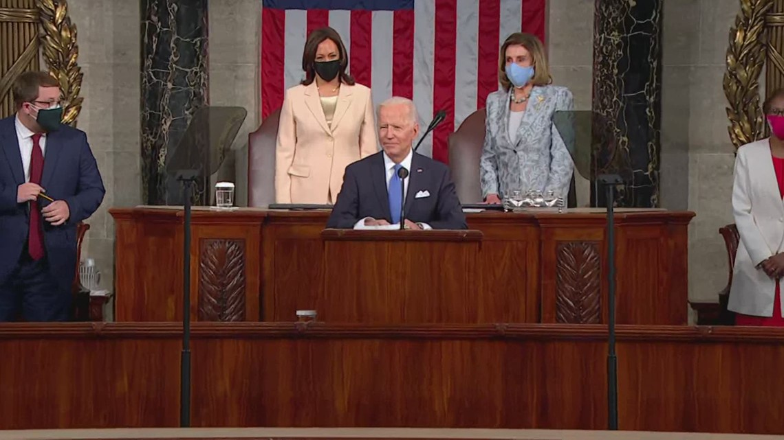 'It's about time' | Historic first as Biden introduces Harris and Pelosi during address