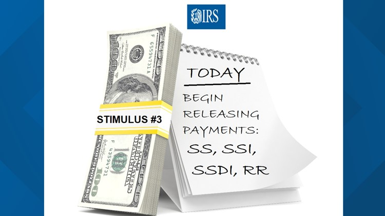 IRS begins releasing Stimulus #3 payments for Social Security, SSI, SSDI recipients