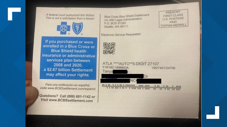 This Blue Cross Blue Shield mailer is real. How to get money from the settlement