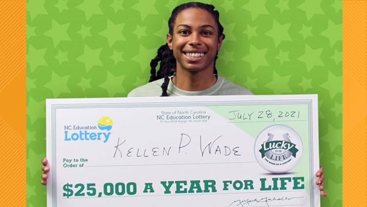 Money, money, money! North Carolina man wins $25,000 a year for life