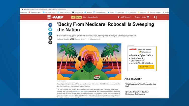AARP warns of 'Becky' calling about Medicare