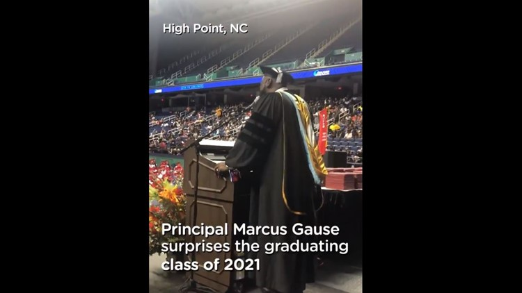 North Carolina principal sings 'I Will Always Love You' to Class of 2021
