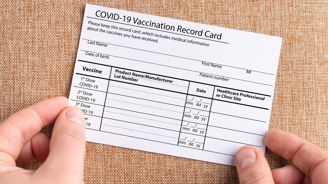 What you should (and shouldn't) do with your vaccination card