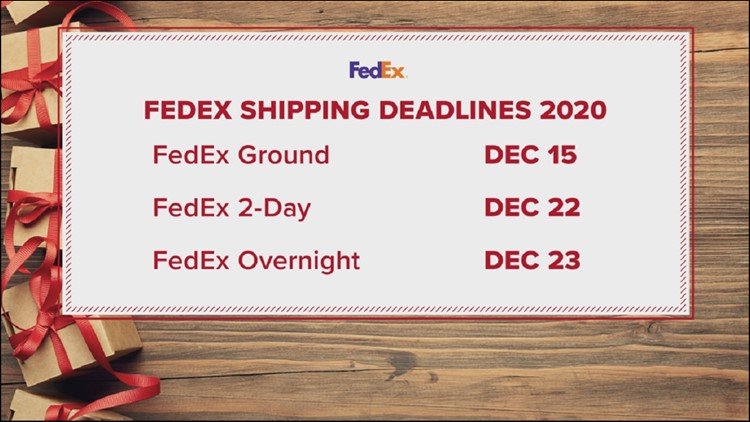 FedEx says you should ship now if you want presents to make it by Christmas