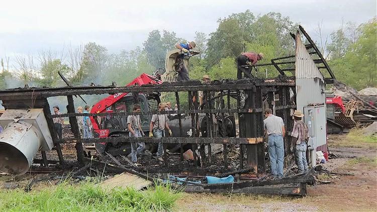 Mifflinburg community helps clean up after barn fire