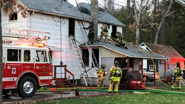 Fire chases resident from home