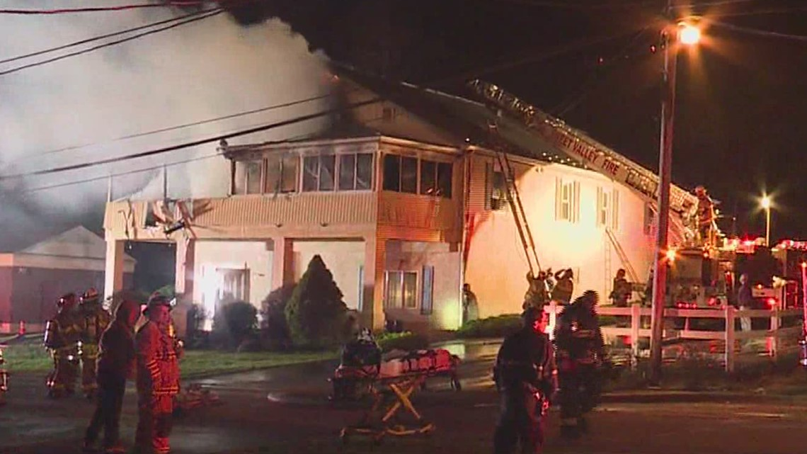 Fire wrecks PA funeral home, apartment
