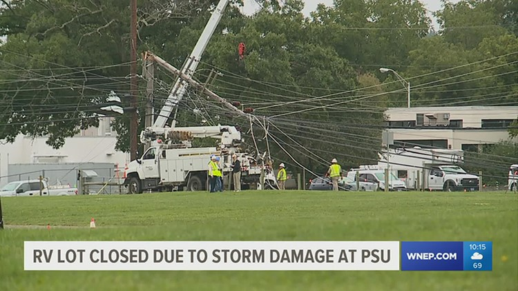 RV lot closed due to storm damage at Penn State