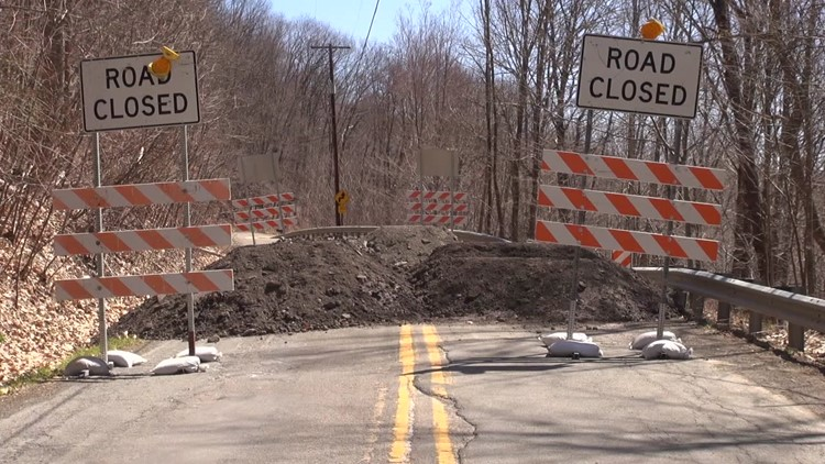 Collapse closes road in Susquehanna County