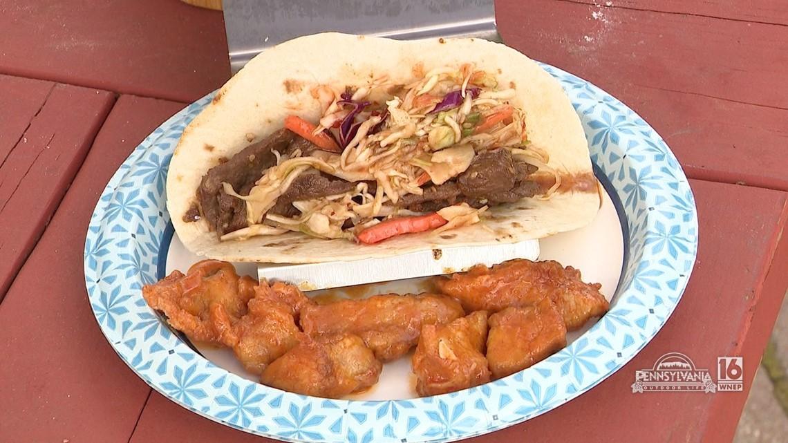 Korean Venison Taco's & Buffalo Pheasant Bites