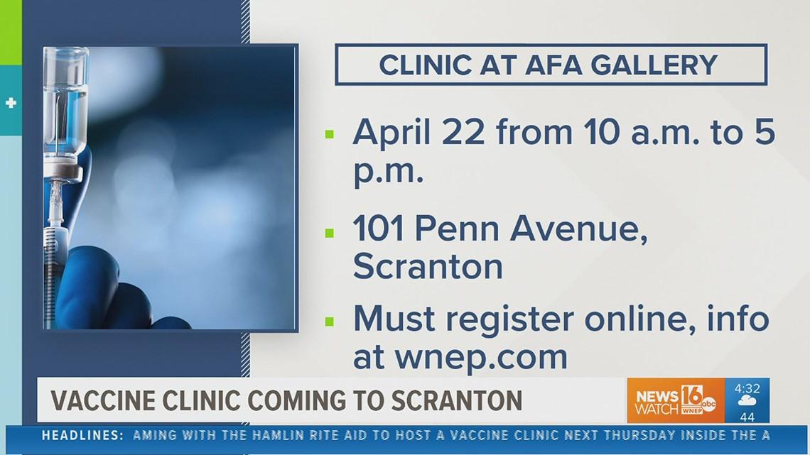 Non-profit to host vaccine clinic in Scranton