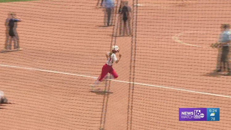 Tri-Valley gets two runs in the B-7th, to edge West Greene 3-2 to win the 'AA' HS softball state championship.