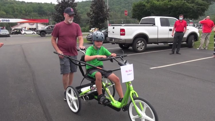 'He just wants to be a regular kid' - Adaptive bikes providing independence for children with disabilities