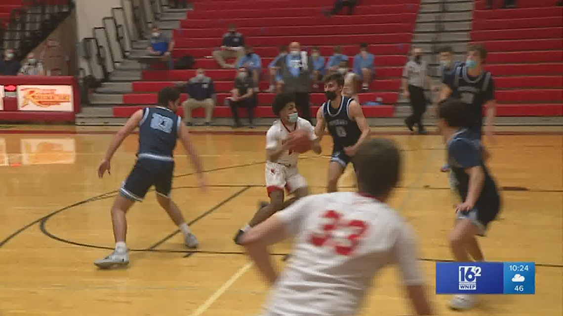 Justice Shoats scored a game-high 20 points as Holy Redeemer handed Wyoming Seminary their first loss, 65-45, in boys HS basketball.