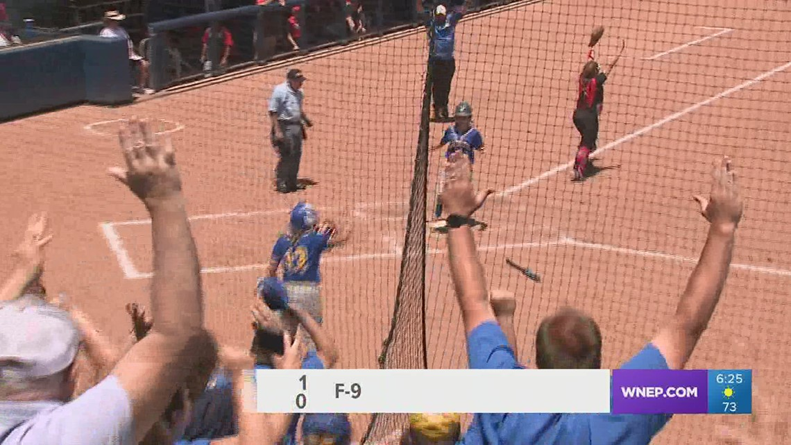 Kya Matter tossed another shutout, Kaely Walshaw delivered the game-winning 2B as Line Mountain won the 'AA' softball Title by a 1-0 score in nine.