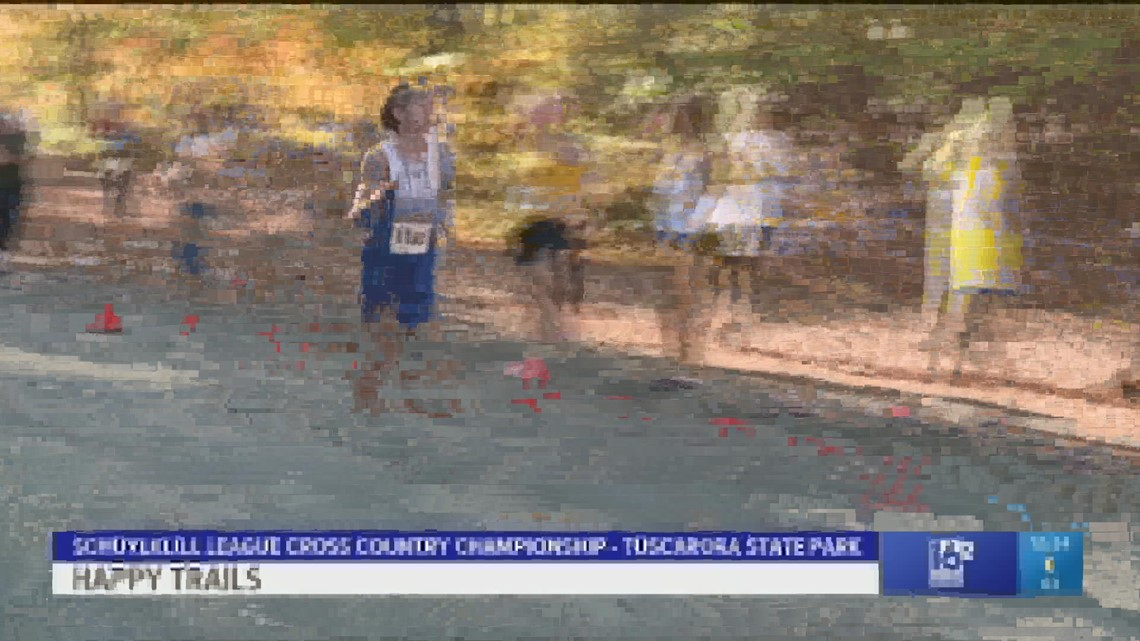 Schuylkill League Cross Country Meet.  Olivia Haas of Blue Mountain and Landon Boyle of Minersville were the Champions.