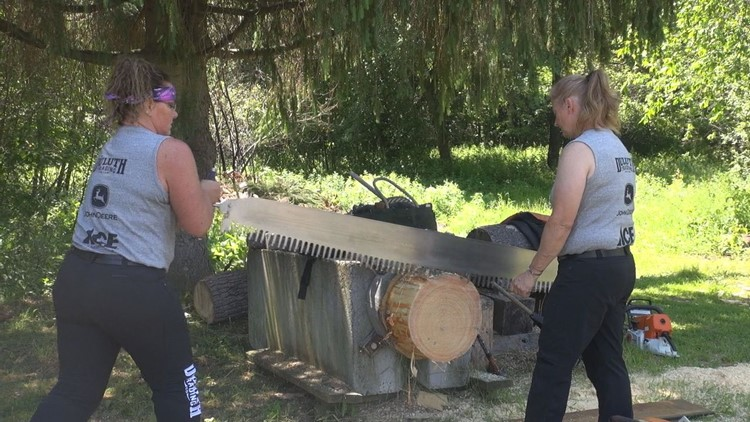 Lady lumberjacks prepare for national competition