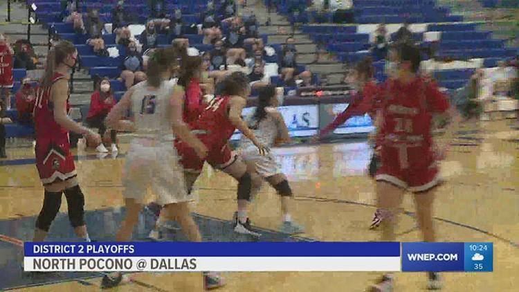 North Pocono @ Dallas D2 girls basketball semifinals.