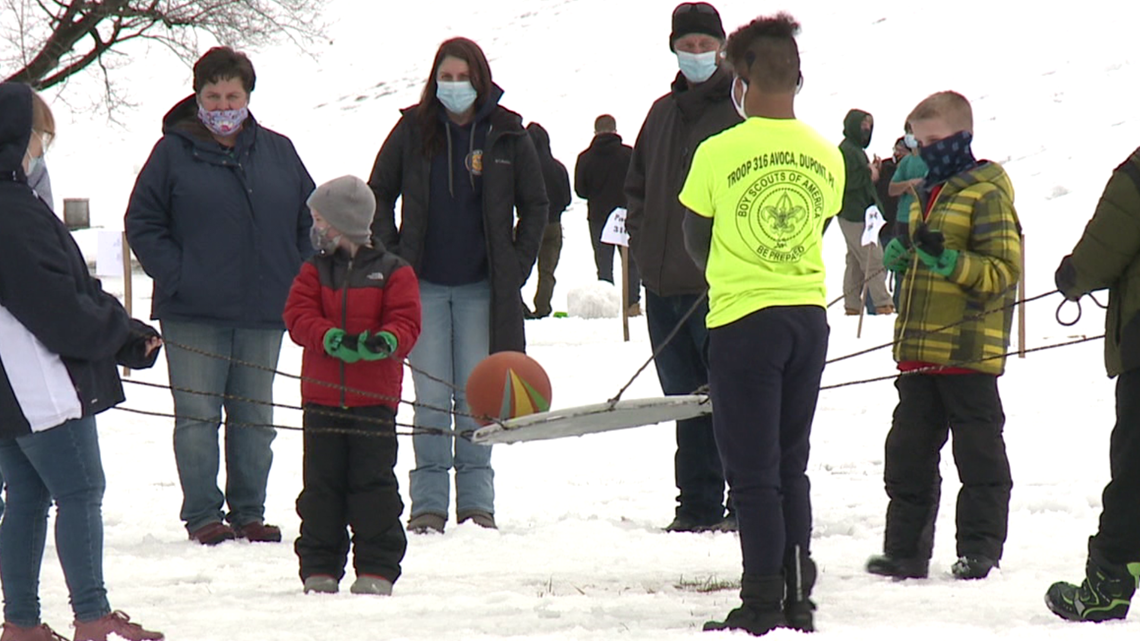 Scouts gather for winter fun in Luzerne County
