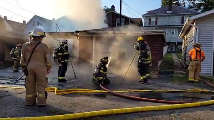 Garage damaged by fire in Carbon County