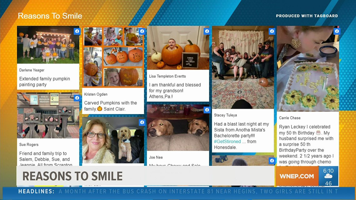 Reasons to smile: From new pets to new grandkids, many have lots to celebrate this week