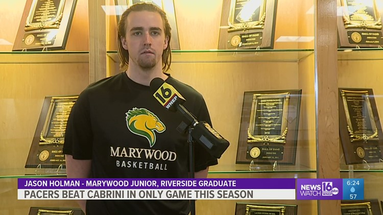 Marywood fights through what could have been a lost season to edge Cabrini by two in Men's College basketball.  The Pacers win their only game.