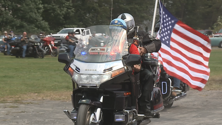 'Bittersweet' - Bikers in Jessup rev up engines to remember local fallen veteran, while raising money for vets in need