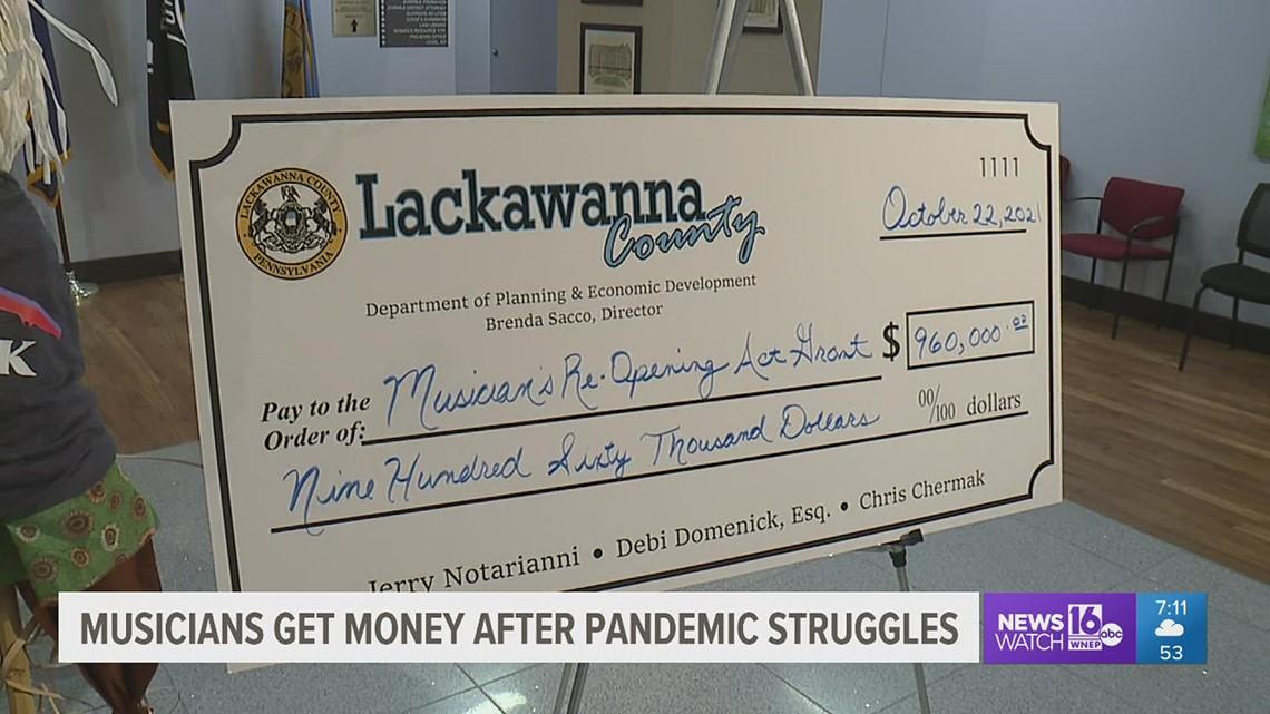 Musicians get money after pandemic struggles