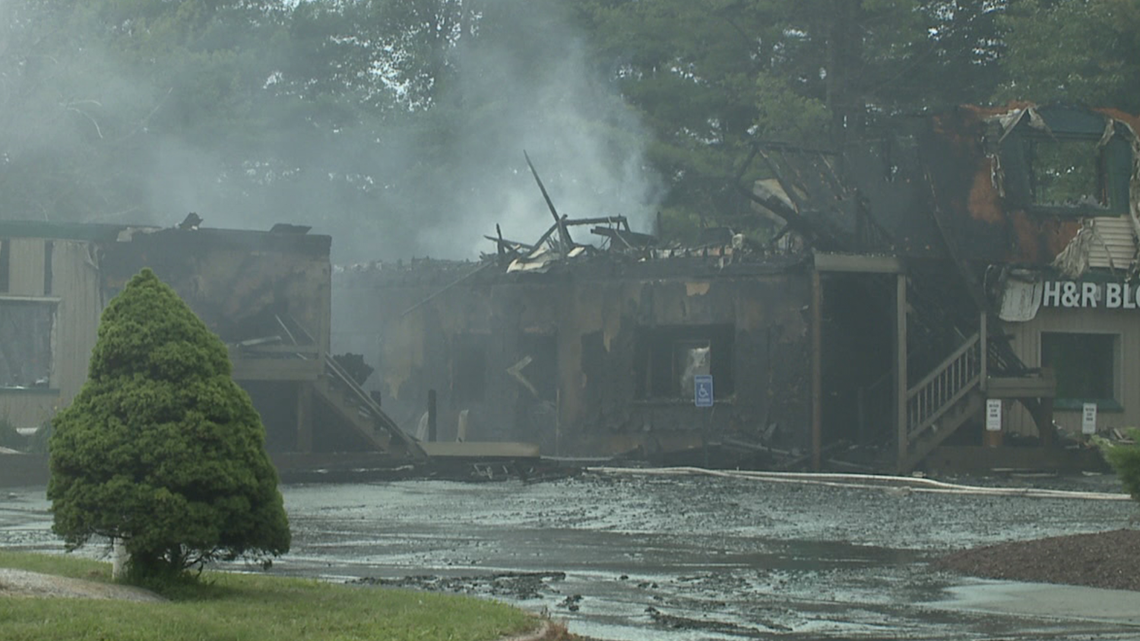 Flames destroy businesses in Monroe County