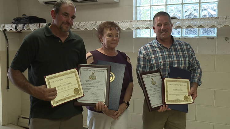 Local heroes honored for saving woman